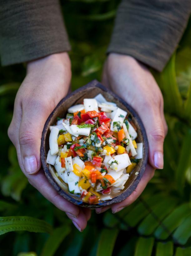 vegan appetizer, vegan recipe, ceviche