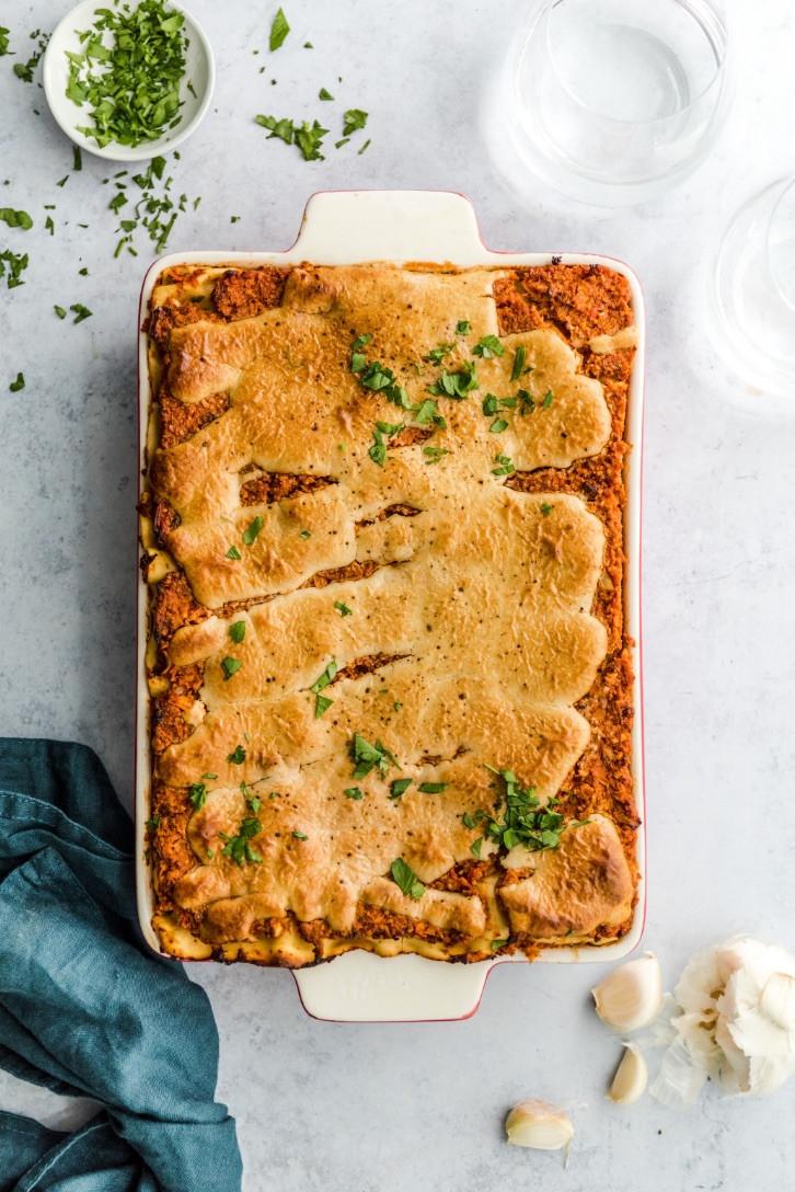 vegan lasagna, vegan recipes, vegan food magazine