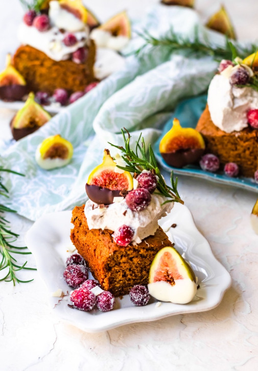 Gingerbread Cake with Maple Coconut Whipped Cream