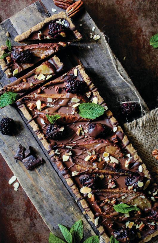 vegan dessert, chocolat tart, vegan recipes