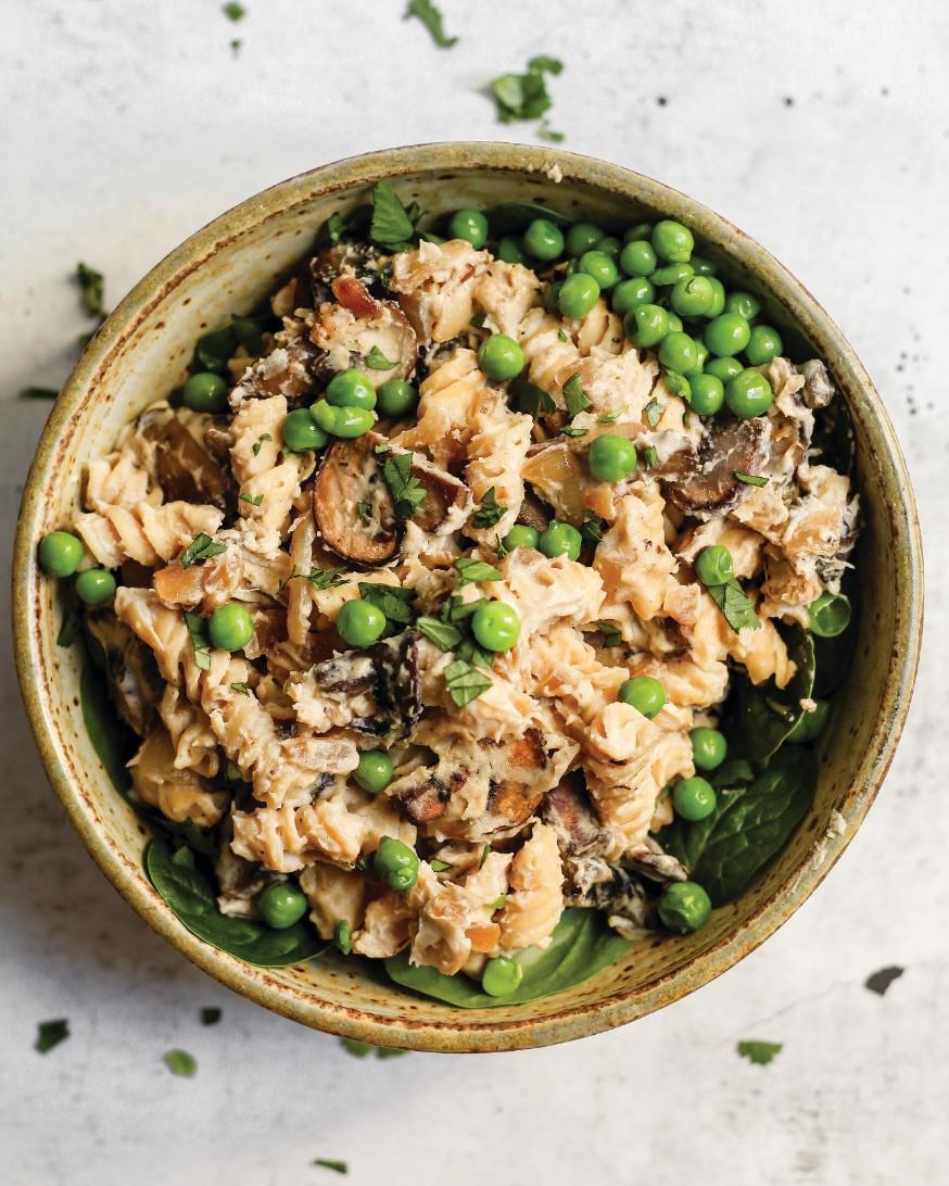 mushroom stroganoff, vegan recipes