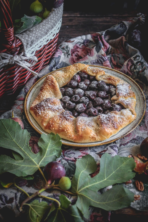 Cherry Galette Soaked in Liqueur