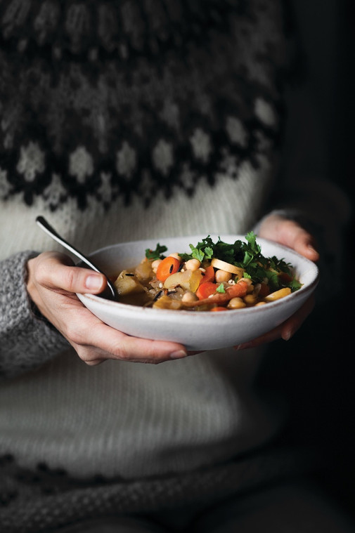 Vegetable Soup with Chickpeas & Wild Rice