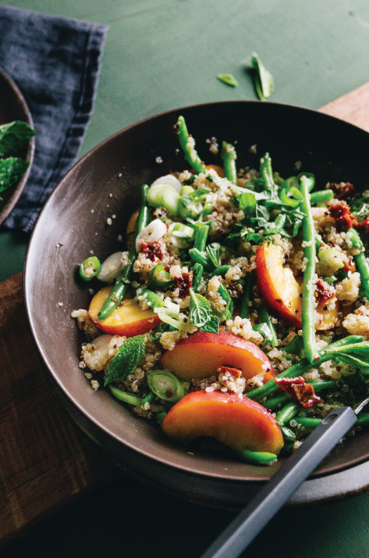 vegan recipe, quinoa, salad