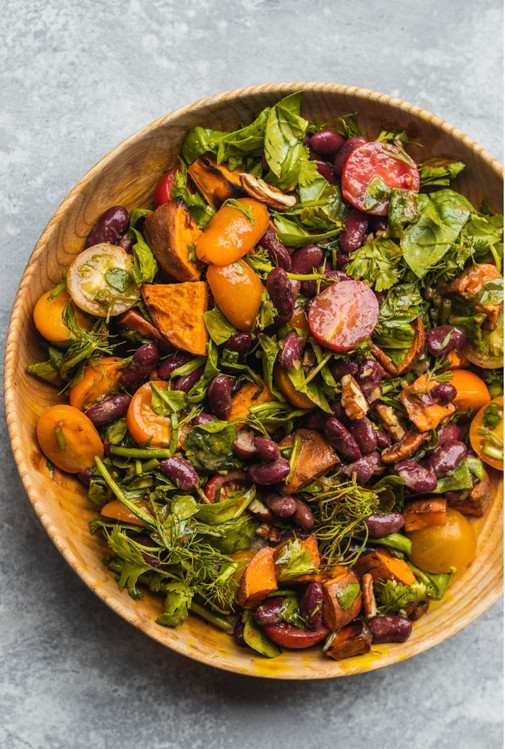 Sweet Potato and Red Bean Salad