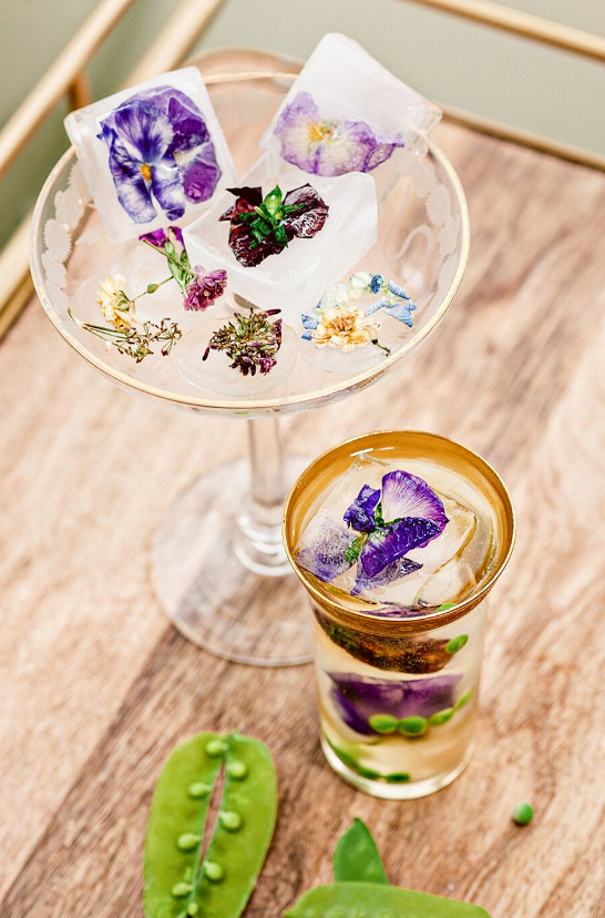 edible flowers, natural cocktails
