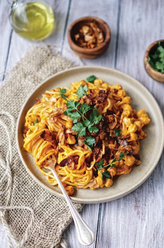 vegan pasta, vegan bacon recipe, vegan dinner