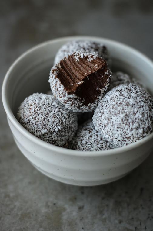 Chocolate, Vanilla, & Avocado Tahini Truffle