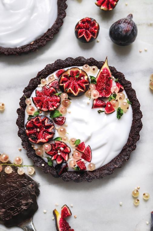 Raw Chocolate Tarts with Coconut Yogurt