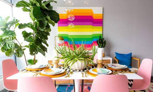 Eclectic, Colorful & Contemporary Meets Your Grandmother's Attic