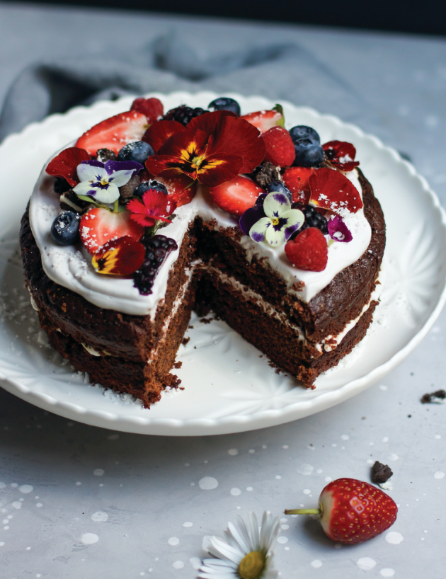 vegan cake, vegan dessert