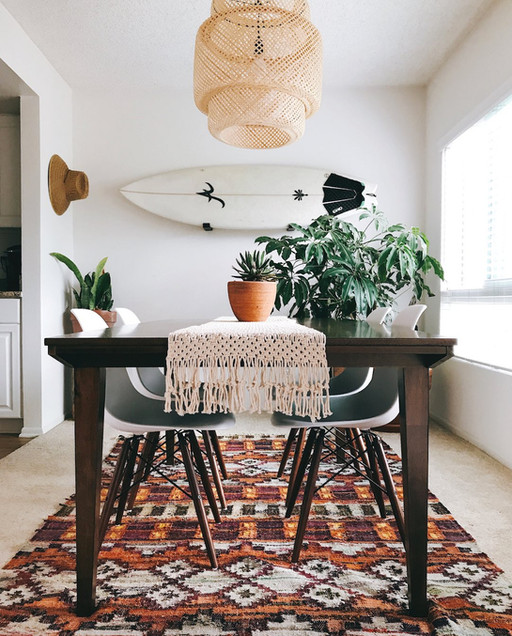 Mid-Century Modern Meets Eclectic Boho