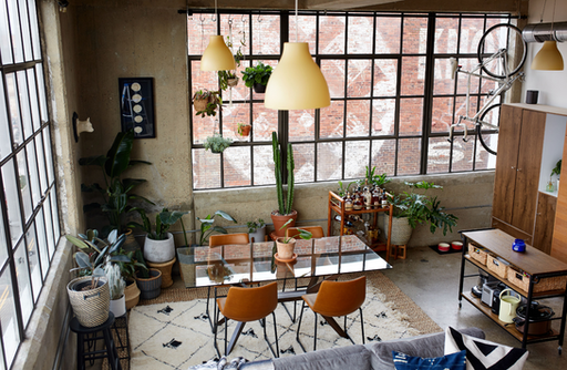 Loft Living in Knoxville: Retro-inspired, Collected & Eclectic