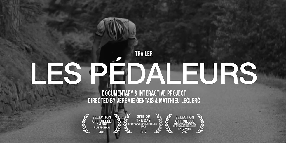 """Ciné-débat : projection du film documentaire """"Les pédaleurs"""" de Jérémie Gentais et Matthieu Leclerc."""