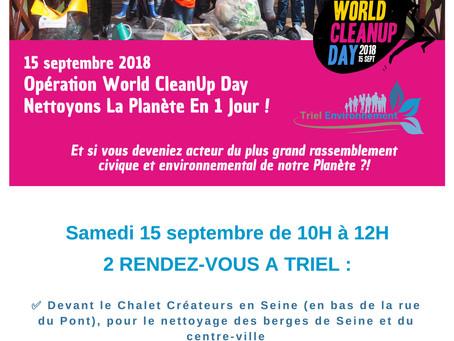Le World Cleanup Day à Triel
