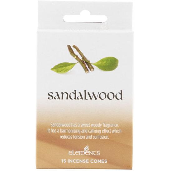 12 Packs of Elements Sandalwood Incense Cones