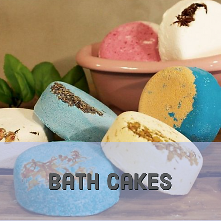 Bath cake bath bombs
