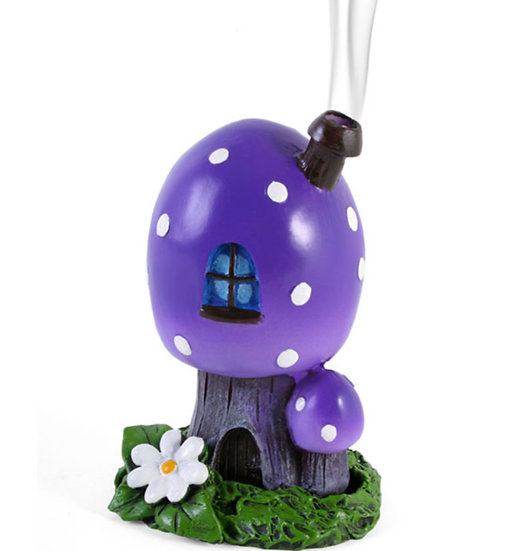 Purple Smoking Toadstool Incense Cone Holder By Lisa Parker