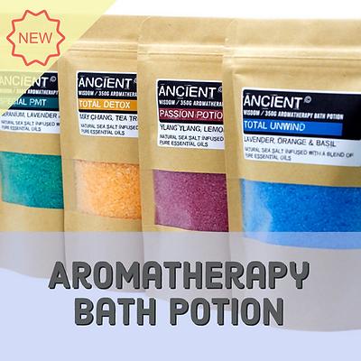 Aromatherapy bath potions