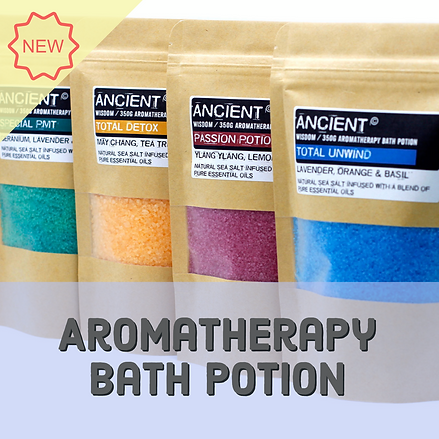 Aromatherapy bath potions