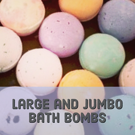 Large and jumbo bath bombs