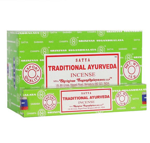 Traditional Ayurveda incense sticks. By Satya