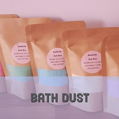 Bath dust Bath bomb dust