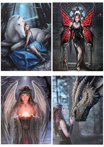 Anne stokes canvas collection