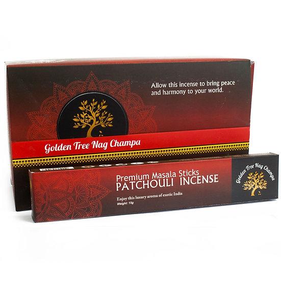 Golden Tree Nag Champa Incense - Patchouli