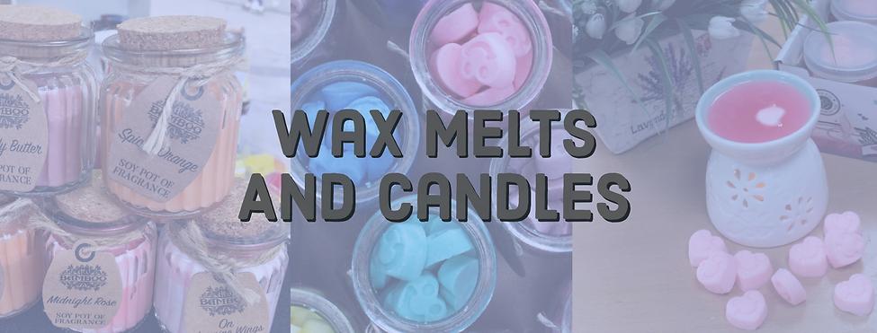 Wax melts and candles header