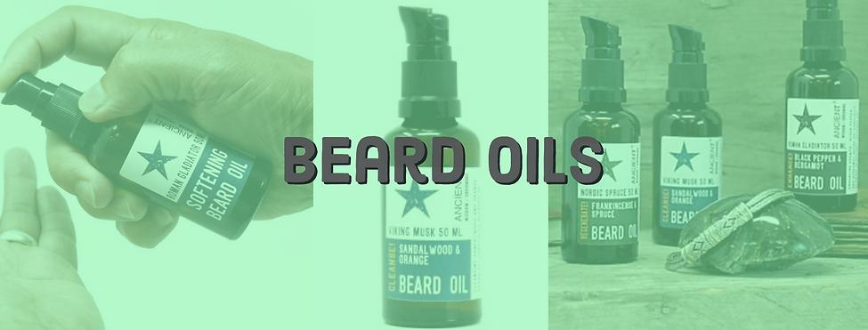 Beard oil header