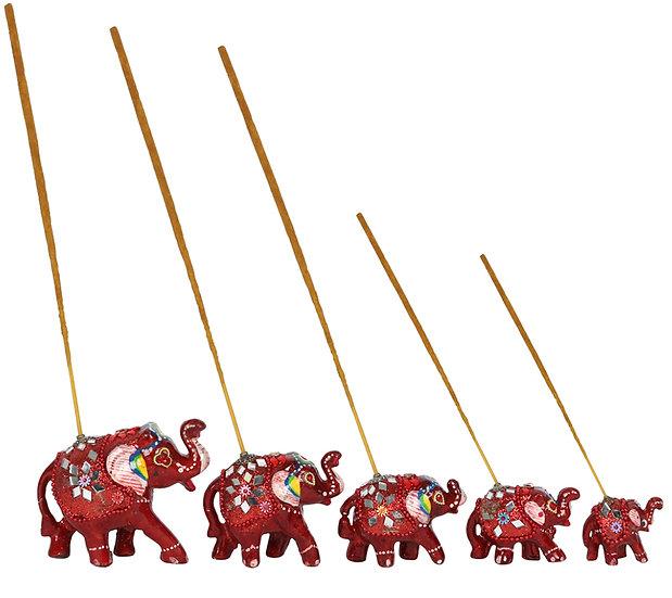 Set of 5 Elephant Incense burners