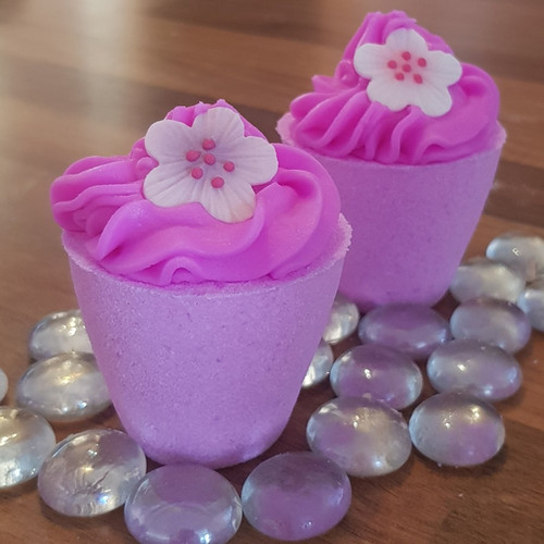 Pink flowerpots