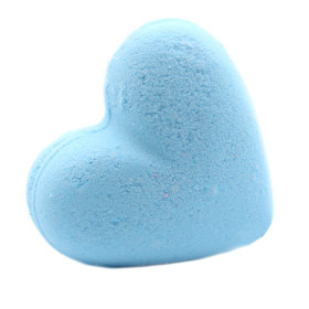 5x Love Heart Bath Bomb 70g - Baby Powder