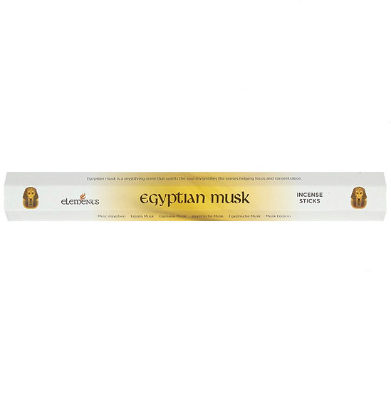 Egyptian musk fragranced incense sticks by Element