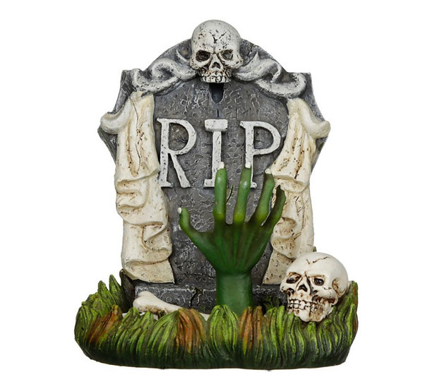 RIP Zombie Hand Tombstone Backflow Incense Burner