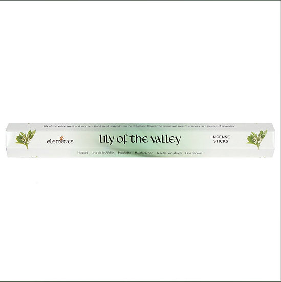 Lily of the Valley fragranced incense sticks by Element