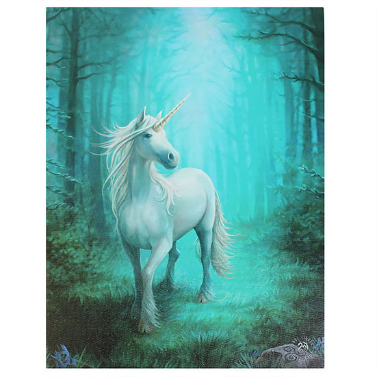 Forest Unicorn Canvas Plaque by Anne Stokes