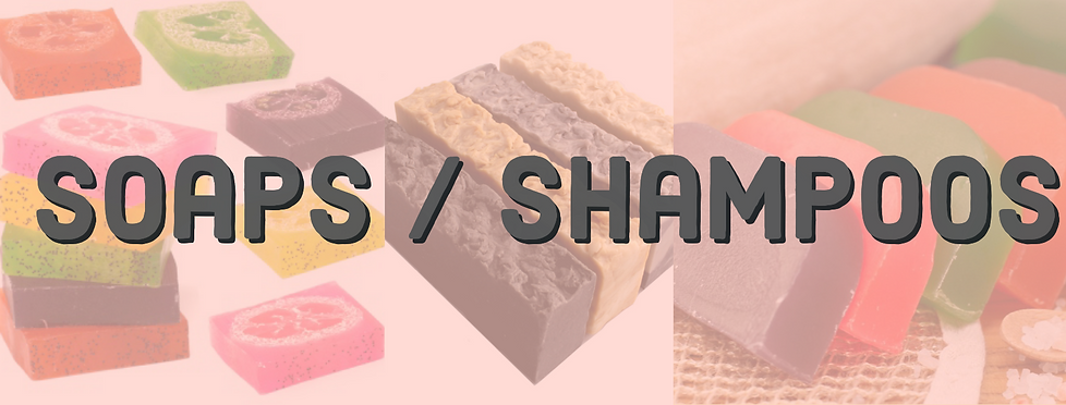 Soaps / Shampoos Title header