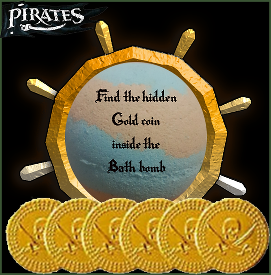 Hidden Pirate Treasure Bath Bomb