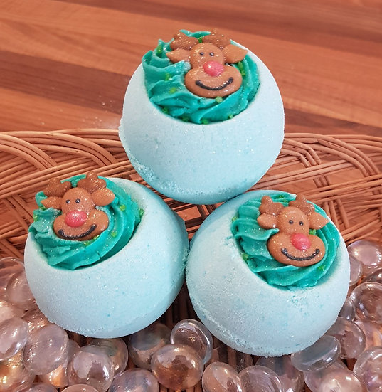 Reindeer Bath Bomb with Shea Butter