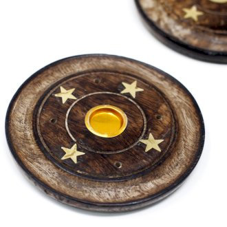Mango Wood Disc 10cm (Cone & Incense)