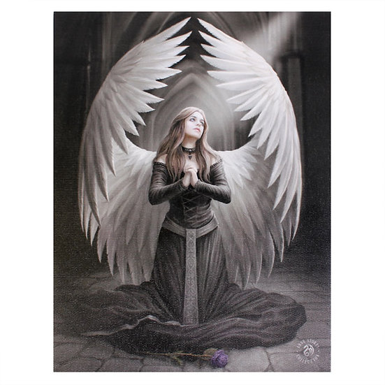 Prayer For The Fallen Canvas Plaque by Anne Stokes