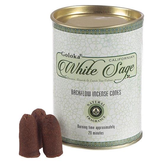 6 x Backflow Incense Cones - White Sage