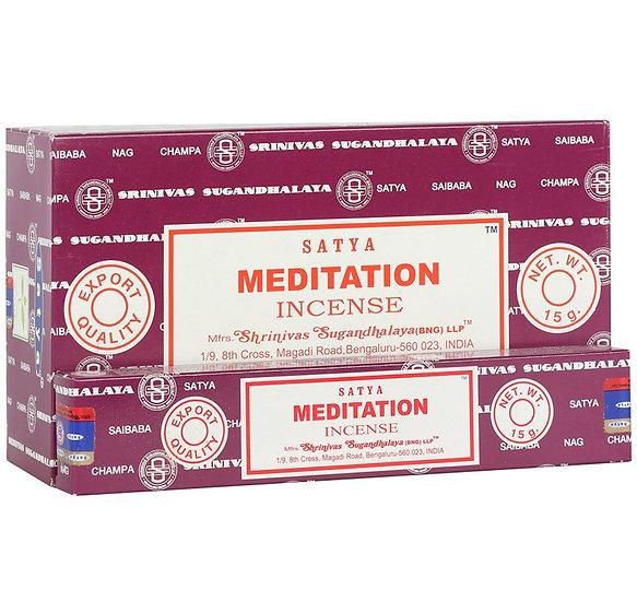 Meditation incense sticks. By Satya