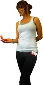 Lady holding travel soap
