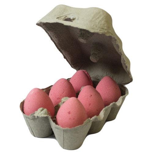 Box of 6 Bath Eggs - Cherry - Red (6x 50gm)