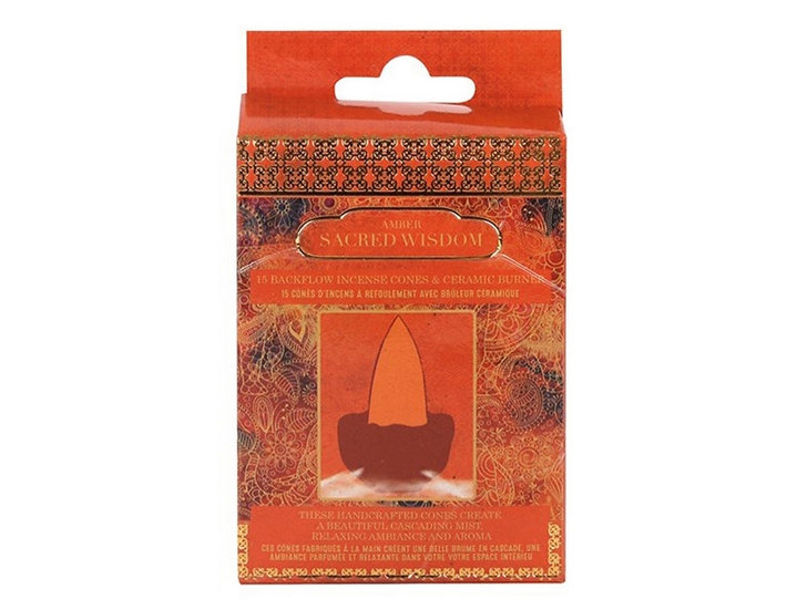 Amber scented  Buddha Backflow Incense Cones