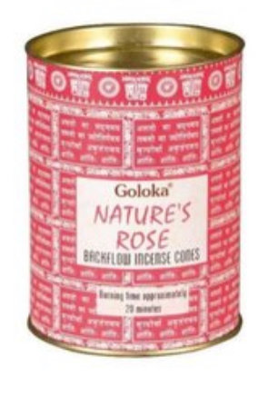 Natures Rose Backflow Incense Cones