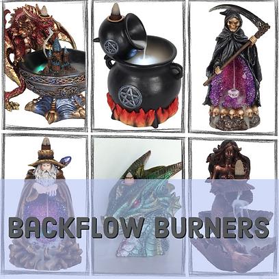 Backflow incense burners